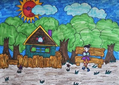 四年级优秀小学生画画作品