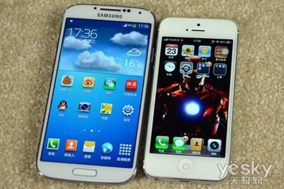 苹果5与三星s4�:/�_终极的较量 三星s4与苹果iphone 5对比