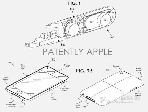专利�y.i_苹果获得了两项与防水i设备相关的新专利(组图)