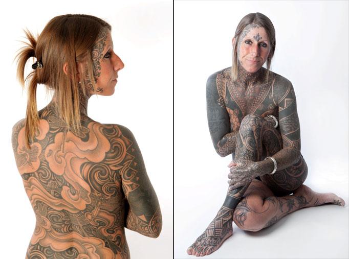 美国一嫌疑犯面部布满骷髅纹身