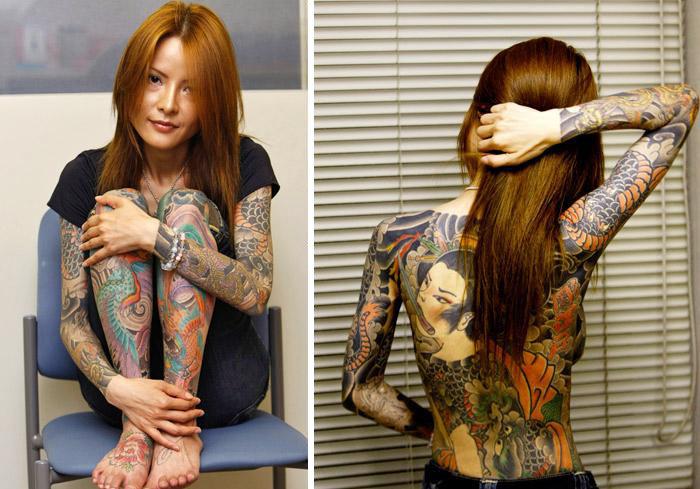 不敢看!让人惊悚的恐怖纹身