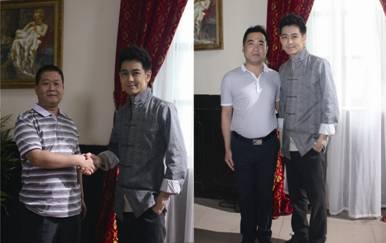 罗登卫浴总经理王建桥(左图),罗登卫浴营销总监许帅(右图)分别与