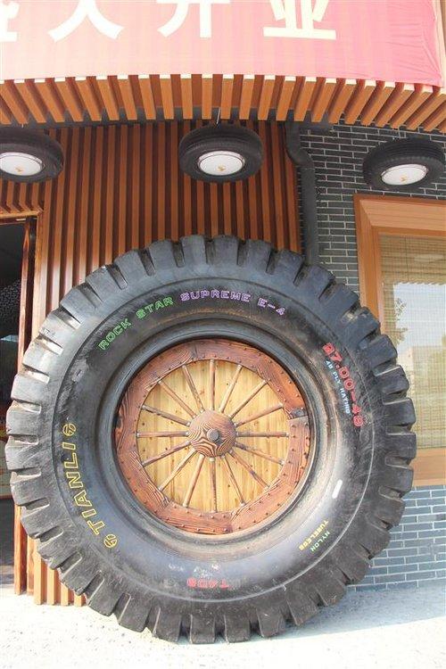 墙体手绘轮胎图