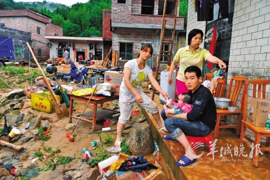 灾后的广州从化良口仙溪村 羊城晚报记者 黄巍俊 艾修煜 摄