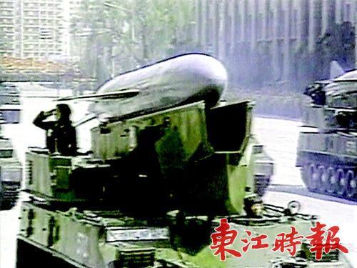朝鲜阅兵中展示的反舰导弹。