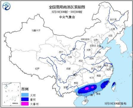 江南南部华南将有明显降雨 内蒙古东北有小到中雨
