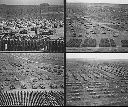 原文配图:苏联军队曾给中国施加了很大压力。