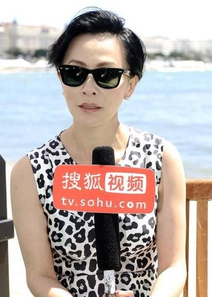 刘嘉玲接受搜狐娱乐专访谈拍《过界》感受。