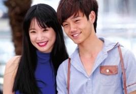李梦(左)和罗蓝山出席戛纳电影节