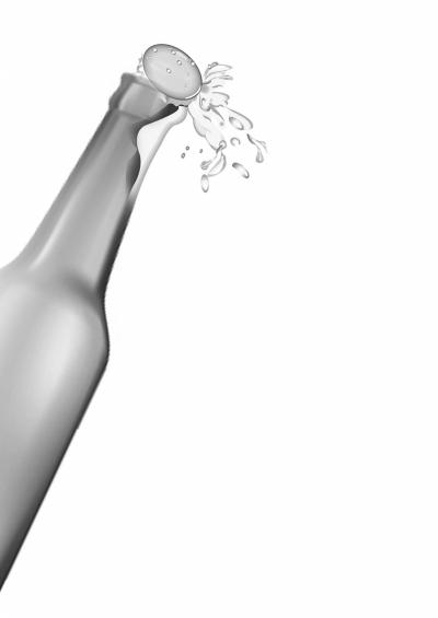 使用各种不正确的办法来开启啤酒瓶,例如借助凳子或桌子的边缘开启,用图片