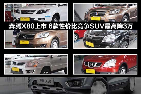 奔腾X80上市 6款性价比竞争SUV最高降3万
