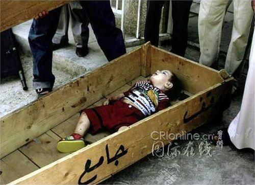 被美军打死的伊拉克孩童