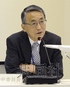 5月22日上午,原子能规制委员会主席田中俊一出席在东京都港区举行的规制委例会。