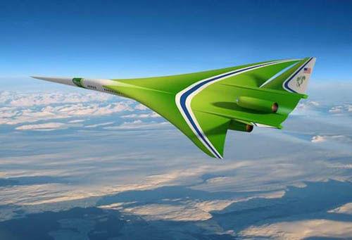 客机/洛·马公司的低音爆超声速客机概念图图片来源:NASA