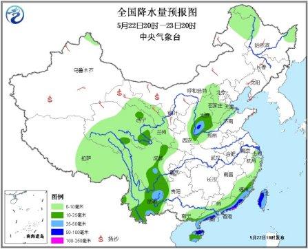 中国自西向东将出现大范围降雨 四川局地大暴雨