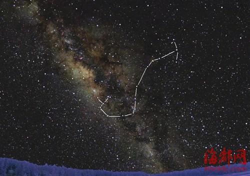 在福州北岭拍到的天蝎男人由福建天文学陈烨提供一年十二个星座双子座图片