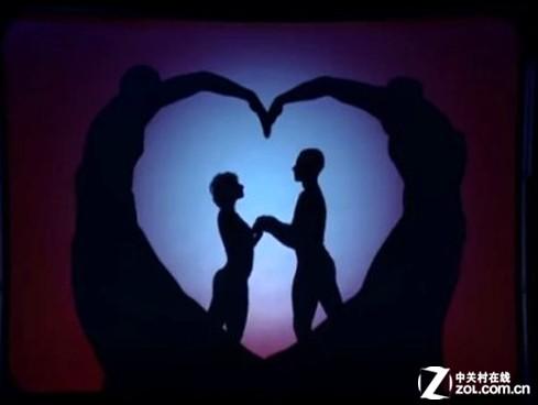 这段三分半钟的舞蹈由8位舞者共同完成,用影子舞出一对情侣从相识到