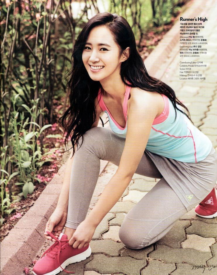 韩国少女时代侑莉运动写真 紧身衣显好身材图