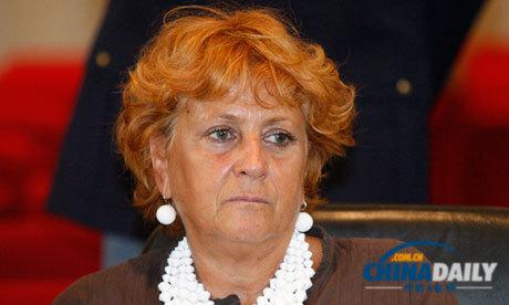 负责意大利前总理贝卢斯科尼性丑闻案件的检察官伊尔达博卡西尼(资料图片)