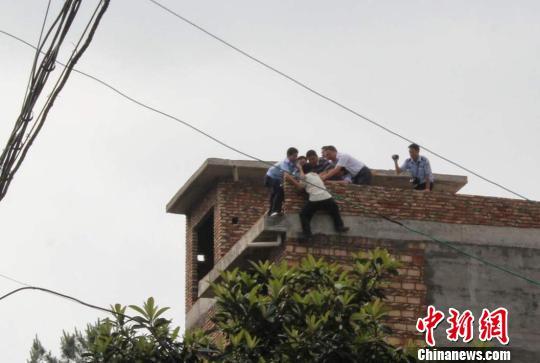 中新网上杭5月25日电(袁宁勤)25日上午,福建省龙岩市上杭县一名图片