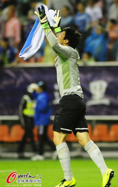 中超图:申花1-0国安 王大雷欢庆胜利