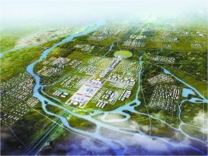 北京新机场俯视效果图图片