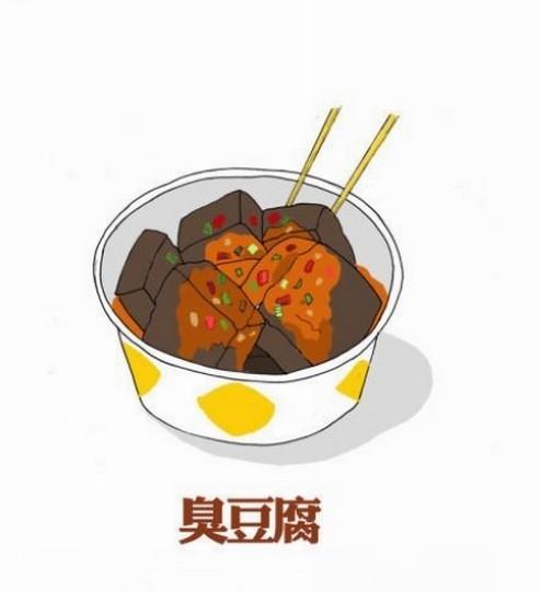 毕业季,网友手绘q版校园美食