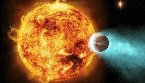 经受强烈x-射线辐射的行星