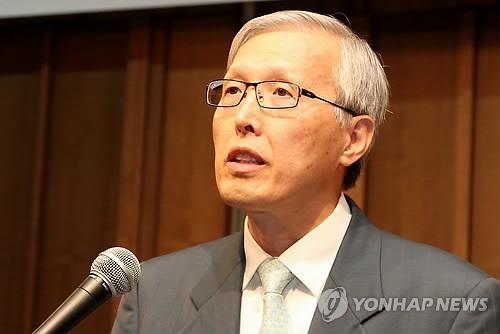 资料图:韩国驻日本大使申珏秀-韩国驻日大使举办离任招待会 未提及