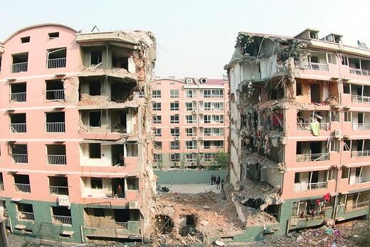 爆炸案现场(2012年10月12日摄)。
