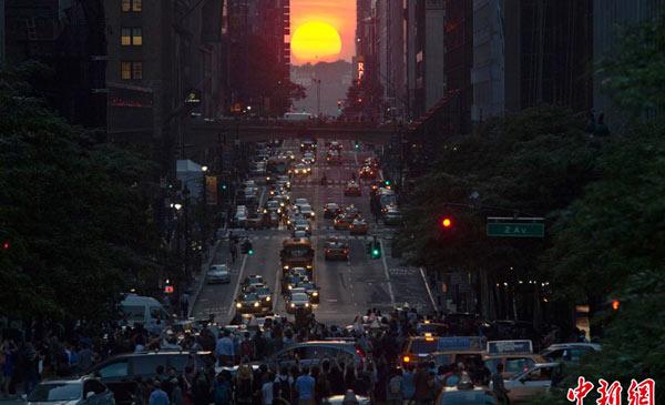 火拼曼哈顿_曼哈顿悬日唯美浪漫 纽约街头无比美丽(组图)-搜狐苏州