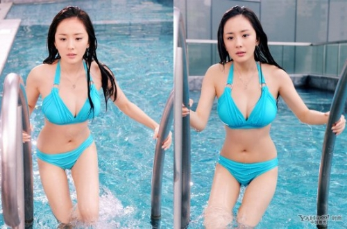 杨幂林心如马伊琍范冰冰 女星无PS泳装照揭真实身材