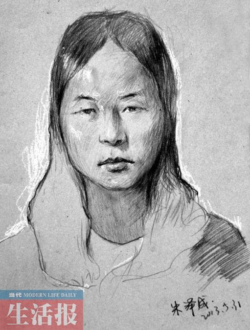 广艺同学们展示给明佳莹的肖像作品。