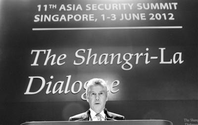 2012年6月2日,澳防长在香格里拉对话会上。