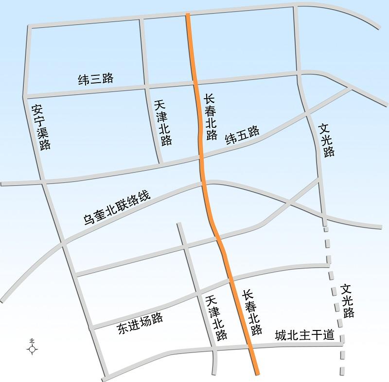"""乌鲁木齐城北""""中轴线""""长春路北延开建(图)"""