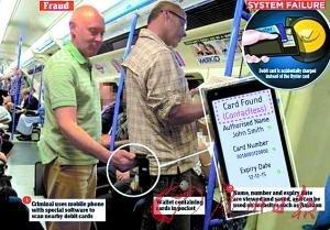 非接触式银行卡有漏洞 手机一靠近信息全扫光
