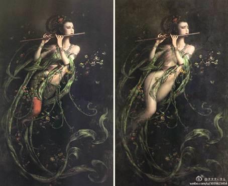 敦煌壁画中的飞天仙女