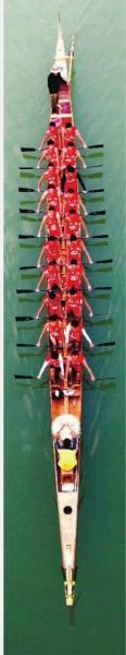 正在集训中的龙舟队。本版图片均由记者 刘丰 摄