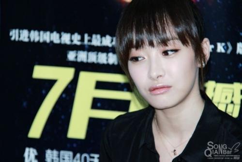 宋茜/6月4日,f(x)成员宋茜抵达武汉,前往湖北卫视录制《我的中国星》...