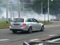极限表演2013款奔驰C63 AMG漂移赛道拉胎