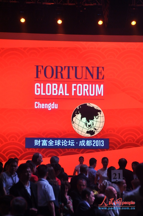 2013财富全球论坛在四川成都举行开幕晚宴.图为晚宴活动现场.