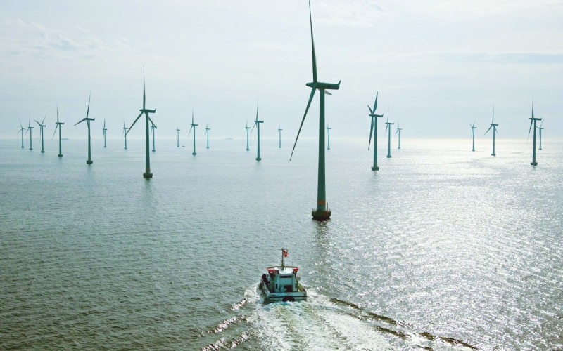 去年11月23日,龙源江苏如东150兆瓦海上(潮间带)示范风电场全部