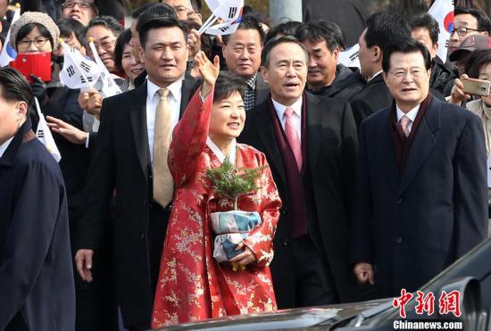 资料图:韩国总统朴槿惠。CFP视觉中国 视频:韩国总统朴槿惠6月下旬将访华 来源:上海东方卫视