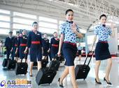 实拍换新装东航空姐 青花图案极致东方美