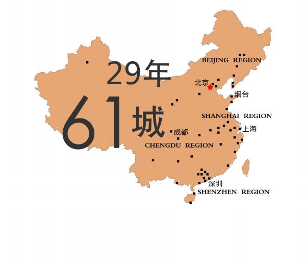 座城市的分布图
