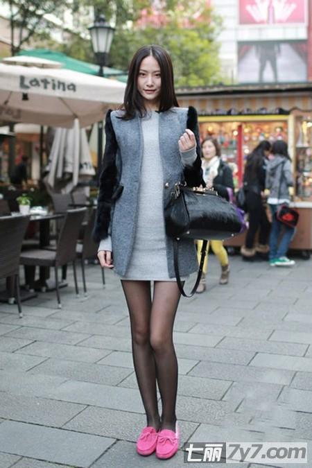 上海美女冬季街拍 时尚穿衣术各有范儿/图