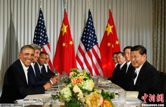 当地时间2013年6月7日,中国国家主席习近平与美国总统奥巴马在加利福尼亚州安纳伯格庄园举行中美元首会晤。 视频:习近平同美国总统奥巴马共同会见记者 来源:中央电视台