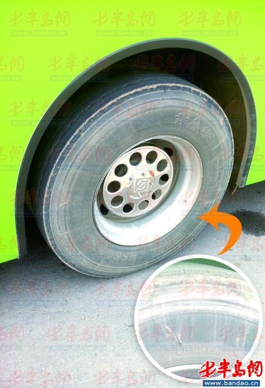 公共汽车的轮子-公交车用翻新胎 公交集团 安全性没问题高清图片