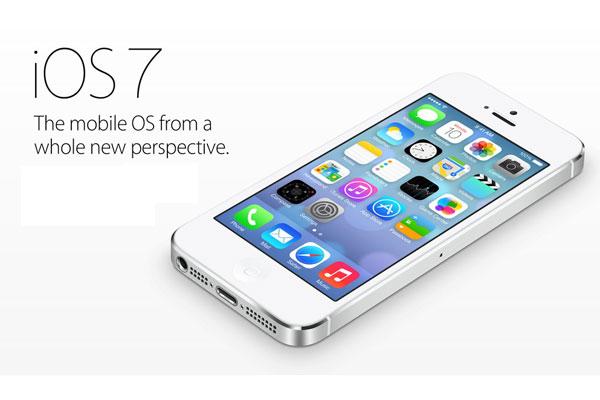 界面全面扁平化设计苹果iOS+7系统发布