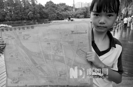 小学生手绘《广佛龙船地图》,有派
